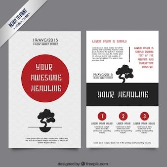 Modello di brochure giapponese