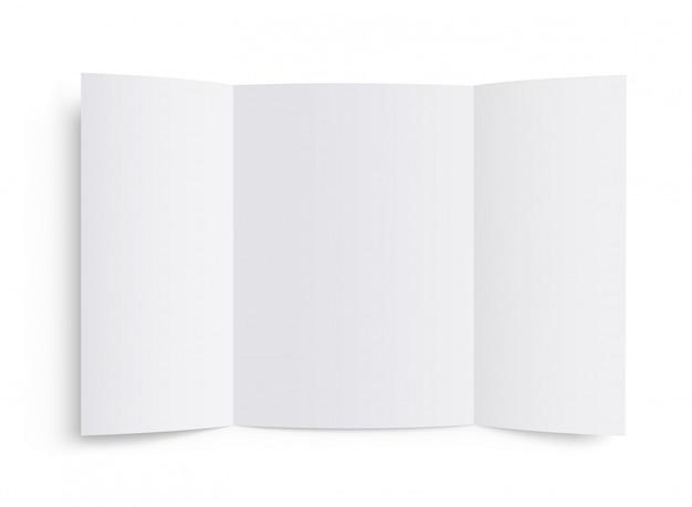 Modello di brochure in bianco. opuscolo di mockup vettoriale.