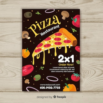 Modello di brochure ingredienti pizza