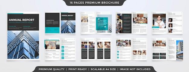 Modello di brochure minimalista