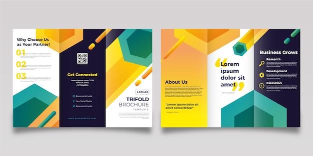 Modello di brochure moderno a tre ante