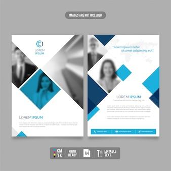Modello di brochure moderno e pulito