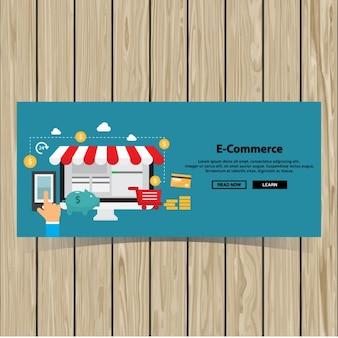 Modello di brochure negozio online