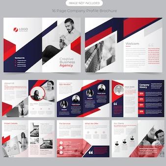 Modello di brochure per 16 pagine