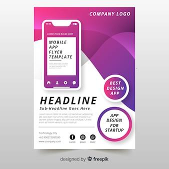 Modello di brochure per app mobile