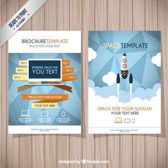 Modello di brochure spazio