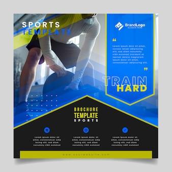Modello di brochure sportiva