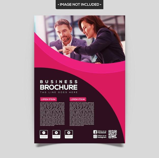 Modello di brochure viola e rosa