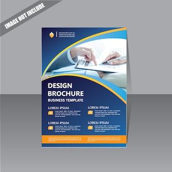 Modello di business brochure copertina di design per loyout report annuale