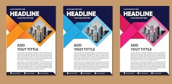 Modello di business brochure layout di progettazione