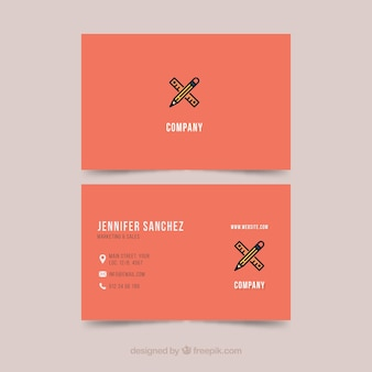 Modello di business card illustratore