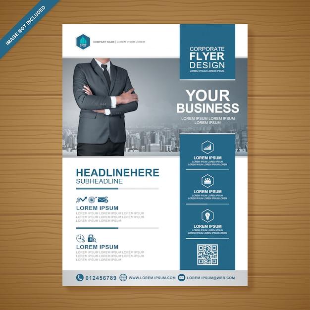 Modello di business copertina a4 flyer design