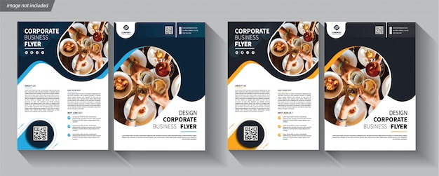 Modello di business flyer aziendale