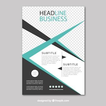 Modello di business flyer con disegno astratto