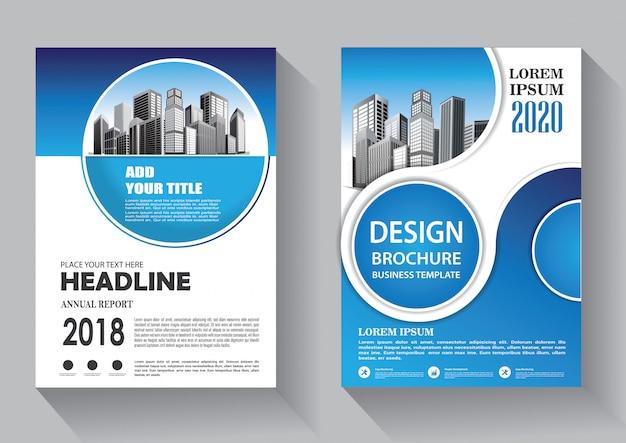 Modello di business flyer copertina di progettazione per brochure e relazione annuale