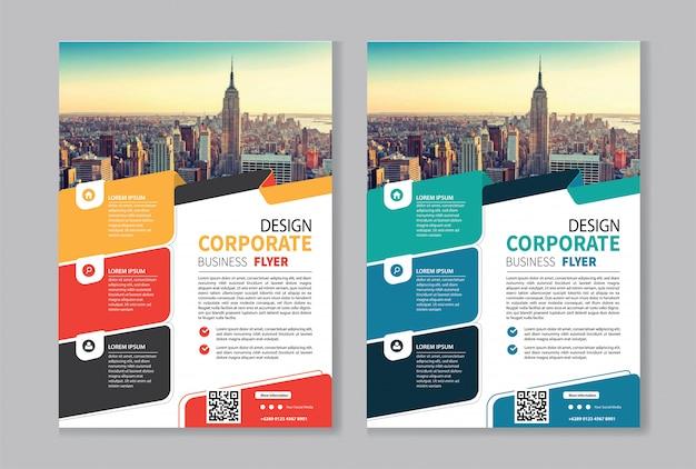Modello di business flyer per brochure copertina aziendale