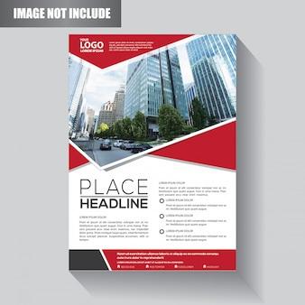 Modello di business flyer per brochure di sfondo