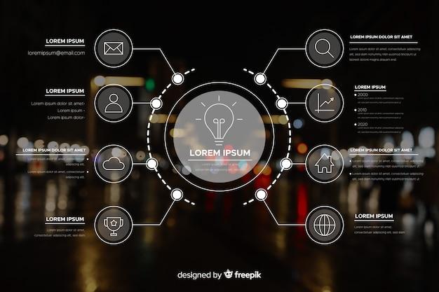 Modello di business infografica con foto
