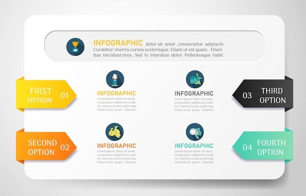 Modello di business infografica con opzioni