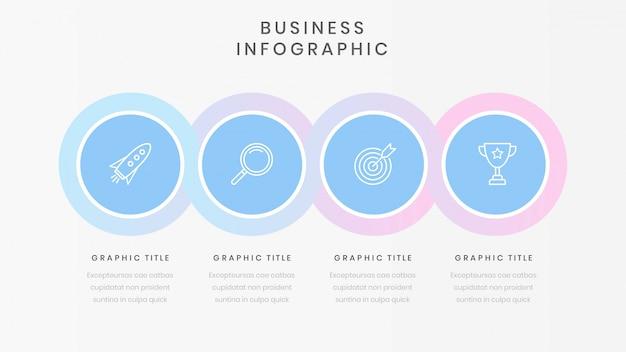 Modello di business infografica con quattro opzioni