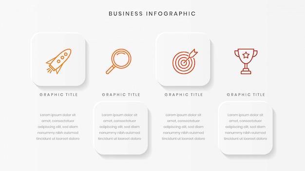 Modello di business minimalista infografica