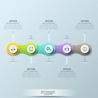Modello di business moderno cerchio. illustrazione vettoriale