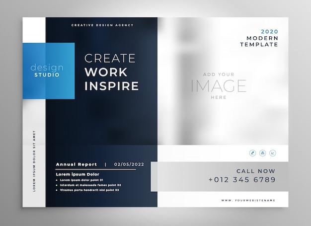 Modello di business moderno presentazione blu