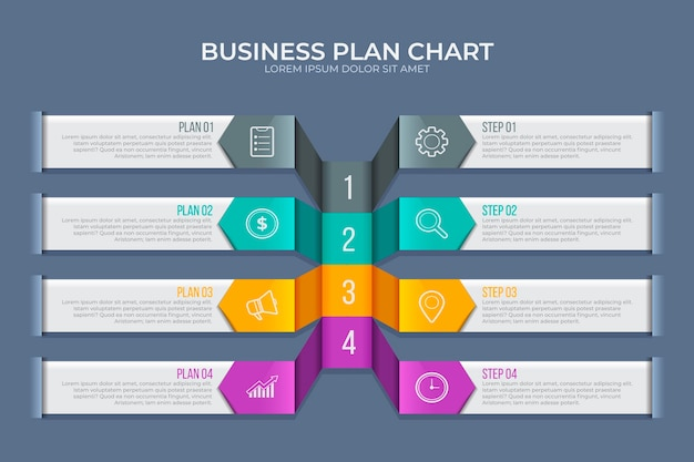 Modello di business plan infografica