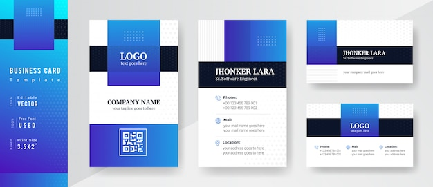 Modello di business professionale di colore blu e ciano sfumato.