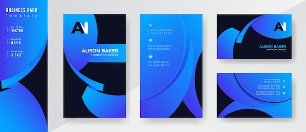 Modello di business professionale di colore blu e nero sfumato.