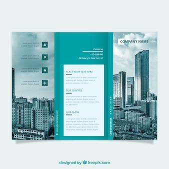 Modello di business trifold flyer