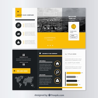 Modello di business trifold flyer