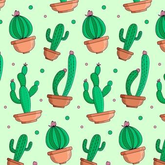 Modello di cactus colorato
