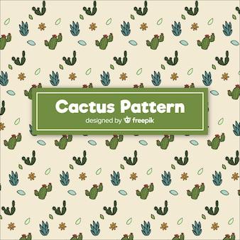Modello di cactus doodle disegnato a mano