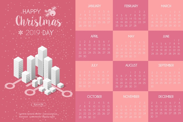 Modello di calendario con