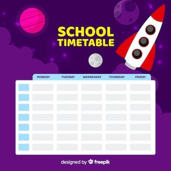 Modello di calendario scuola design piatto
