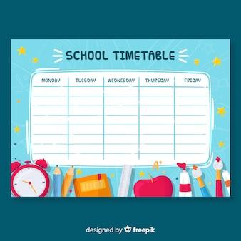Modello di calendario scuola disegnata a mano