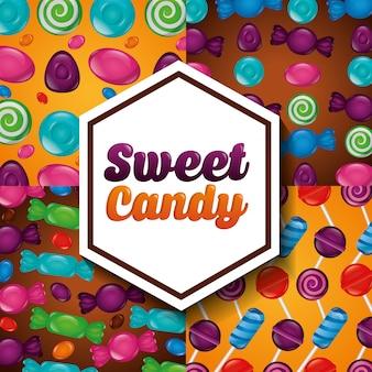 Modello di caramelle dolci