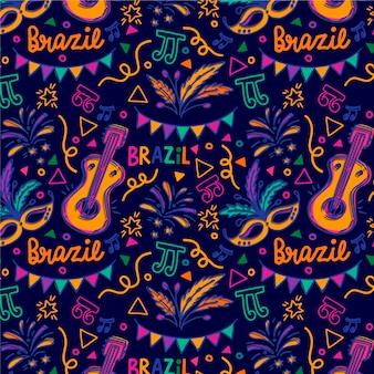 Modello di carnevale brasiliano disegnato a mano