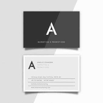 Modello di carta azienda bianco e nero