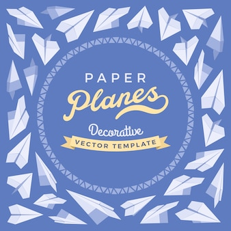 Modello di carta blu e bianco con spazio di copia