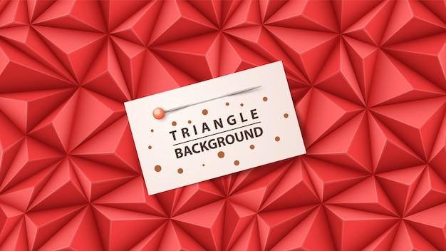 Modello di carta business - sfondo di origami