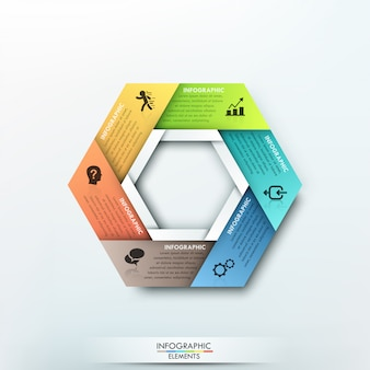 Modello di carta ciclo infografica moderna