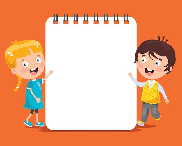 Modello di carta con i bambini