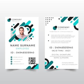 Modello di carta d'identità con stile astratto