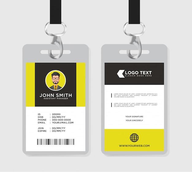 Modello di carta d'identità minimalista