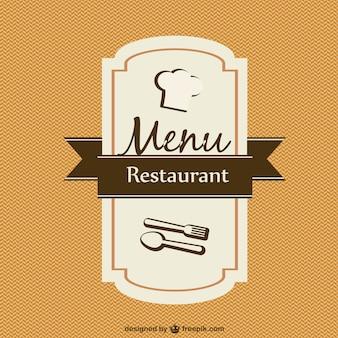 Modello di carta del menu vettore