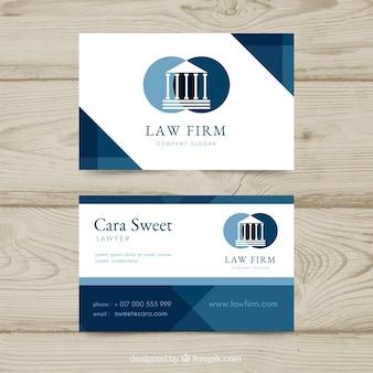Modello di carta dell'avvocato