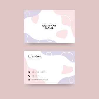 Modello di carta dell'azienda con forme astratte e forme di colore pastello