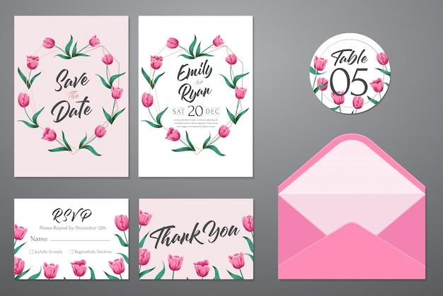 Modello di carta dell'invito di nozze